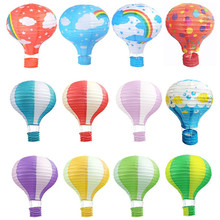 16inch 40cm Rainbow Hot Air Balloon Paper Lantern 1pc Wedding Decoration Children's Bedroom Hanging Birthday Party Decorations
