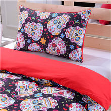 3D Skeleton Bedding Pillow Duvet Cover Bedding Comforter Set Duvet Cover Fabric luxury Home Textile Queen king Full Twins size(China)