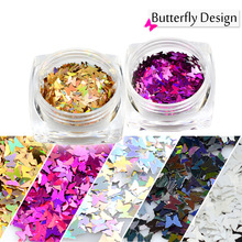 1g/pcs Mini Paillette Butterfly Designs Nail Glitters Shape Colors For Polish Gel DIY Nail Art Sequin Decor 3D Tips TRHD01-05