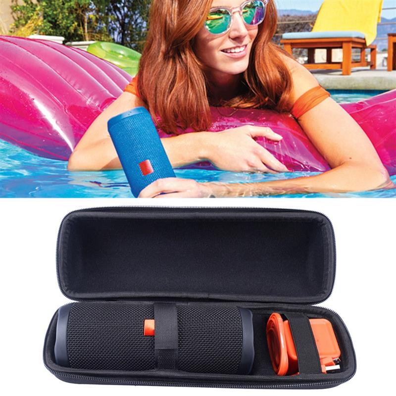 LEORY EVA Hard Speaker Bag Travel Protective Speaker Carry Cover Pouch Bag Case For JBL Flip 4 Bluetooth Speaker For Charger