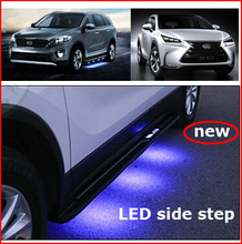 LED fashional side step bar running board for NX NX200T NX300h for KIA Sorento 2015-2017,expensive because of high cost(China)