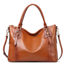 2017 Large Designer Brand Women Real Leather Handbag Female Vintage Messenger Bags Ladies Shoulder Bags High-End Retro Tote Bags