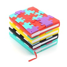Kicute Colorful Soft Cover Puzzle Notebook Blank Paper Mini Notepad For Diary Travel Journal Sketchbook School Supply(China)