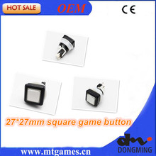 27 x 27mm Square button with switch and led lamp/slot machine button/casino game pushbutton for Casino machine/Slot Game Machine(China)