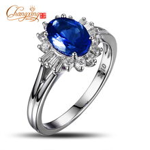 14k Gold 6x8mm Natural Violet Tanzanite Diamond Engagement Ring Fine Jewelry, Free Shipping(China)