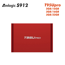 3GB RAM 32GB TV Box T95U PRO Plus Amlogic S912 Octa Core Android 6.0 Smart Mini PC 4K 3D Media Player Bluetooth 4.0 5.8G Dual Wi