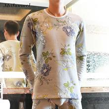 Winter Spring Thermal Underwear For Men Printed Elastic Base Shirt Warm Sexy Brand Men's Tops Different Pattern for Choice(China)
