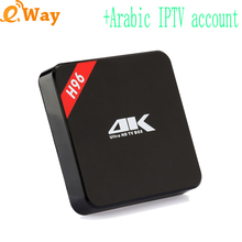 With French Spanish Turkey IP TV code UK IPTV account Italy subscription quad core Android 7.1 TV Box network media player H96