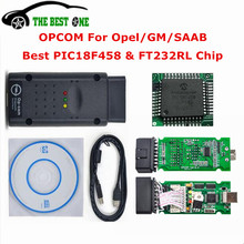 Newest Opcom V1.59 With Software V120309A OPCOM PIC18F458 Chip OP COM For Opel OP-COM OBD2 CAN BUS Interface Diagnostic Scanner