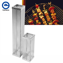 12''/6'' BBQ Stainless Steel Perforated Mesh Smoker Cubic Filter Tool Hot or Cold Smoking Cubic Filter Tool Outdoor Camping(China)