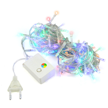 10M Waterproof AC 110V 220V LED Holiday String lights for Christmas Festival Party Decoration Fairy Colorful Strip US / EU Plug