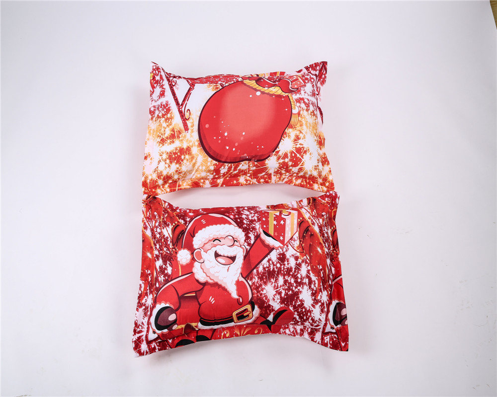 Great For Christmas, Set 4Pcs Christmas Santa Clause, 3D Bedding Set Duvet Cover Set,Sheet, Pillowcase, Sham Covers 12