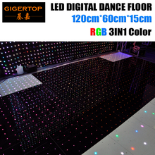 Discount Price 120cm*60cm Led RGB Digital Dance Floor 4ftx4ft Size Assemble Support Non-Waterproof Video/Pattern/Text Play(China)