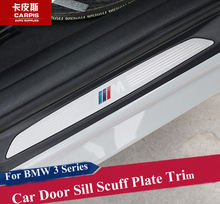 Stainless Steel Car Door Sill Scuff Plate Trim Car Guard Sill For BMW 3 Series F30 F35 316i 318i 320i 325i 2013-2017 Car Styling(China)