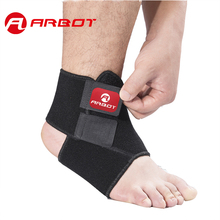 Arbot  Black Adjustable Ankle Support Pad Protection Elastic Brace Guard Support Ball Games Running Fitness