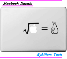 Equation Square Root Pear Spoof Sticker for Apple Macbook Skin Air 11 13 Pro 13 15 17 Retina Laptop Car Wall Vinyl Logo Decal