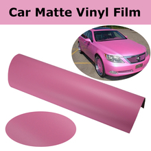 Pink Matte Vinyl Wrap Film MATT Car Wrap With Air Bubble Free Matt Pink Vehicle Wrap Self adhesive Graphic size 1.52x30m/Roll