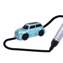 Induction Car Magic Toy Truck Automatic Induction Road Car Driveline Engineering Car With Marker pen Children's Toys(China)
