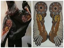 60*20cm Motor Cycles Patch Angel Wings Embroidered Patches Jacket iron patches T Shirt Patch Stickers