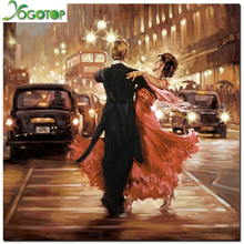 100% DIY 5D Diamond Mosaic Couples dance Handmade Diamond Painting Cross Stitch Kits Diamond Embroidery Pattern Rhinestone GT372