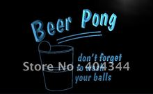 LB940- Beer Pong Game Bar Pub Club NEW Light Sign