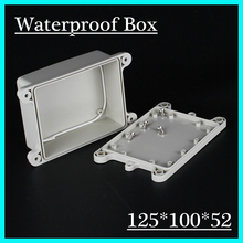 125*100*52mmWaterproof Plastic Electronic Project Box w/ Fix Hanger Plastic Waterproof Enclosure Box Housing Meter Box