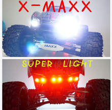 Traxxas X-MAXX XMAXX LED headlight lamp headlamp + tail lamp tail light red+ light bracket + parallel switch line rc car 1/5