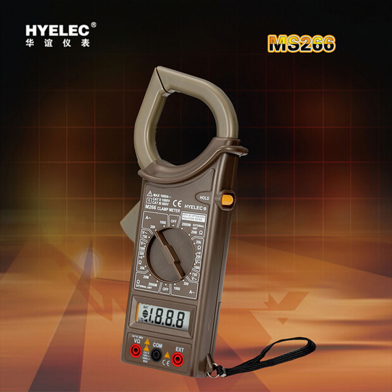 M266 HYELEC professional Digital Clamp Multimeter Frequency resistance clamp ammeter Voltage /Current / Resistance<br><br>Aliexpress