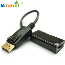 2017 Hot Male to Female HDMI Adapter Connector DP Displayport Male to HDMI Female Cable Converter Adapter for PC HP/DELL #Dec14