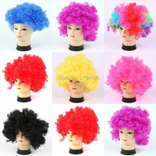 10pcs/lot New Style Hawaii Bachelorette Party Supplies Halloween Costume Holiday Clown Party Explosion Curls Wig Multicolor