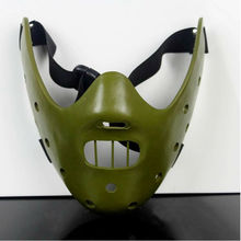 The Silence Of The Lambs Mask Steel Teeth Hannibal Lecter Halloween Masquerade Party Cosplay Costume Resin Masks Adult Size