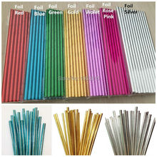 New 25pcs Gold Foil Paper Straws Biodegradable Paper Drinking Straws For Wedding Party Kids Birthday Party Decoration Supplies