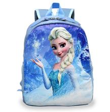 Hot kids cartoon snow queen schoolbag girls boys cute printed princess  backpacks children's  book bags many designs