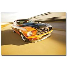 NICOLESHENTING Hot Rod Muscle Car Art Silk Fabric Poster Print Classic Car Pictures For Living Room Decor 005
