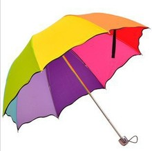 Folding princess structurein ruffle rainbow umbrella water apollo umbrellas freeshipping
