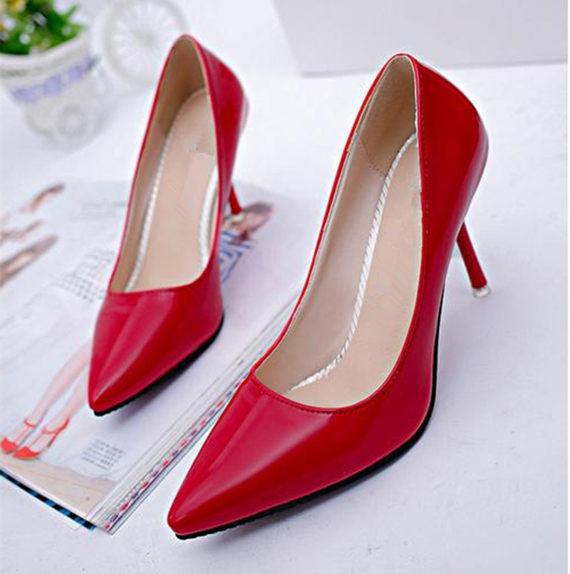 5.2017 spring new heels red bottom shoes women  fi...