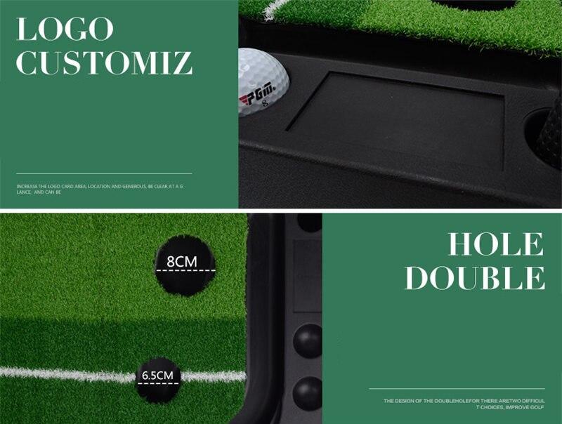 PGM indoor Golf Putter Practice Set Putting Green Trainer Green Mat Automatic Return Fairways Equipment Golf Training Aids (14)