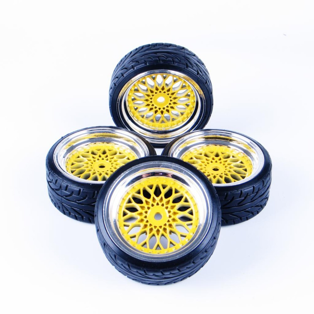4 Pcs 1 Set RC Hard Pattern Drift Tires Tyre Wheel Rim Wheel Mounted For HSP HPI 10042-20022 Fits For 1:10 Drift Car A<br><br>Aliexpress