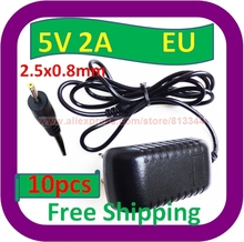 10 pcs Free Shipping Ac Adapter Nextbook Next7P 8se Next8P12 Premium 7 8 Android Tablet charger EU Plug(China)