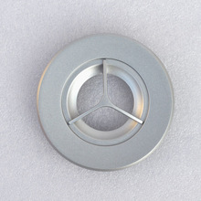 2pcs Silver Treble tweeter panel fixing plate panel tweeters sound decorative panel(China)