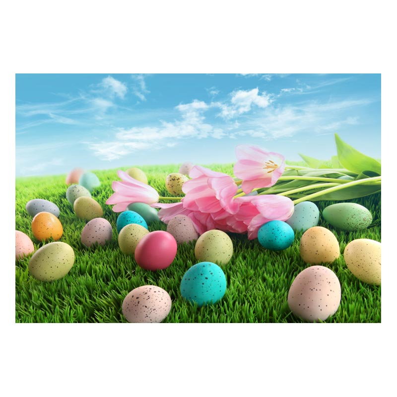 2.2MX1.5M For taking pictures there are beautiful flowers and colorful eggs happy Easter printed vinyl background GE-139<br><br>Aliexpress