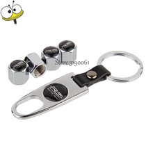 Car Styling Tire Valve Stems Caps Stainless Steel Wheel With Mini Wrench Keychain R3 For Proton Persona Satria Wira Gen2 Savvy(China)