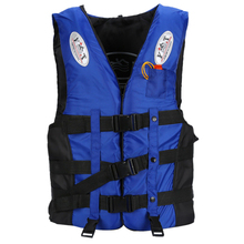 Life Jacket Universal Swimming Boating Ski Vest +Whistle, Blue XL