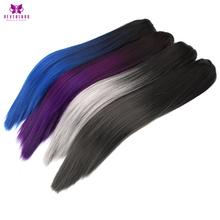 "Neverland 20"" Claw Clip on Ponytail Hairpieces Straight Synthetic Heat Resistant Ombre Hair Clip in Hair Fake Ponytails(China)"