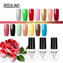 Rosalind 7ml Solid Color Series Gel nail polish White Bottle UV LED Gel Varnish Semi Permanent gel lacquer(China)
