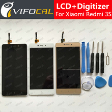 For Xiaomi Redmi 3S LCD Display + Touch Screen 100% New Digitizer Assembly Replacement For Redmi 3S Pro / Prime Cell Phone