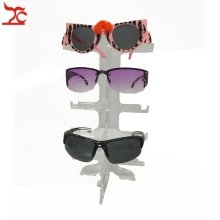 Portable 5 pairs Acrylic Sunglasses Showing Rack Holder Frame 5 Layer Clear  Glasses Display Stand