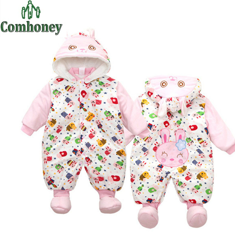 Baby Winter Romper Halloween Cosplay Cotton Padded Rompers for Infant Girl Boy Snowsuit Cartoon Hooded Newborn Warm Xmas Clothes<br><br>Aliexpress