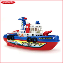 High Speed Children Marine Rescue Toy Boat Fire Boat Electric Boat Children Electric Toy Navigation Non-remote Warship Gift(China)