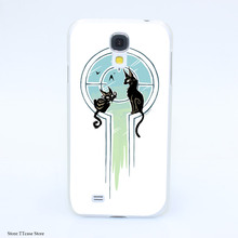 4075CA Window Cats Hard Transparent Case Cover for Galaxy S2 S3 S4 S5 & Mini S6 S7 & edge Plus